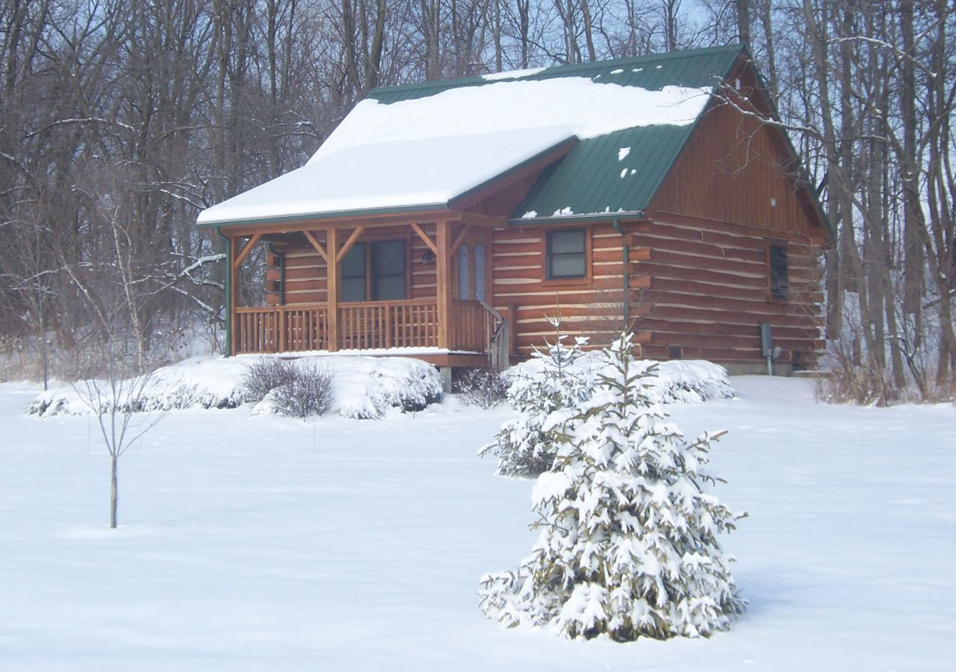 The cabins at cabins and candlelight a romantic log cabin for Winter cabin bedding