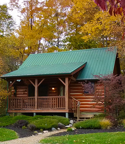 Cabins and candlelight a romantic log cabin getaway in Getawaycabins com
